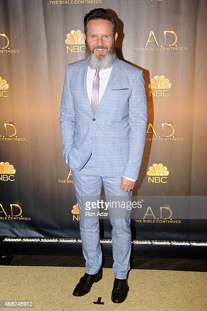 Executive Producer Mark Burnett attends the 'AD The Bible Continues' New York Premiere Reception at The Highline Hotel on March 31 2015 in New York...