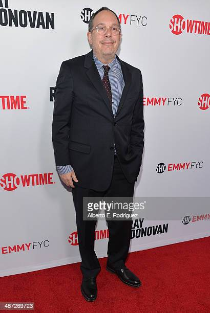 Executive producer Mark Gordon arrives to an exclusive conversation with the cast of Showtime's Ray Donovan at Leonard H Goldenson Theatre on April...