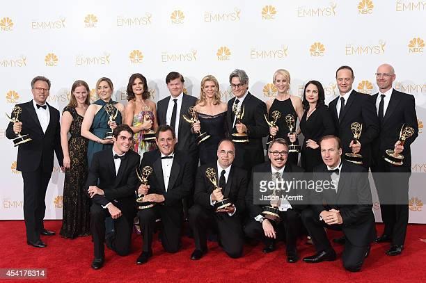 Executive producer Mark Johnson, Co-Executive Producer Melissa Bernstein, Producer Karen Moore, actors Betsy Brandt, Jesse Plemons, Executive...