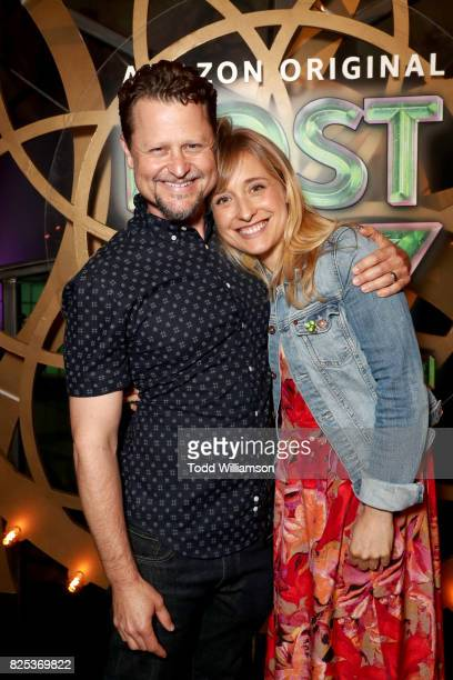 Executive producer Mark Warshaw and Allison Mack attend Amazon Studios' premiere for Lost In Oz at NeueHouse Los Angeles on August 1 2017 in...
