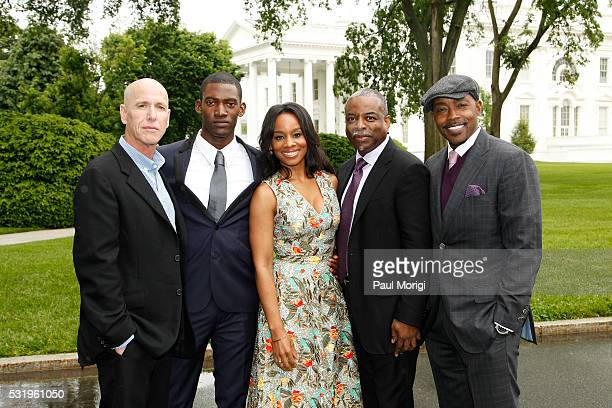 Executive Producer Mark Wolper actor Malachi Kirby actress Anika Noni Rose coexecutive producer LeVar Burton and William Packer attend as HISTORY...