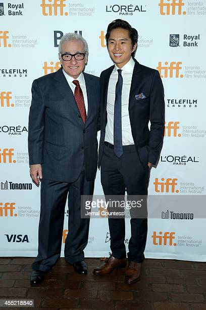 Executive producer Martin Scorsese and actor Justin Chon attend the Revenge Of The Green Dragons premiere during the 2014 Toronto International Film...