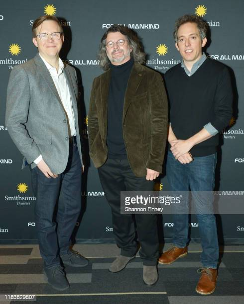 """Executive Producer Matt Wolpert, """"For All Mankind"""" series creator Ronald D. Moore, and Executive Producer Ben Nedivi attend the Washington DC..."""