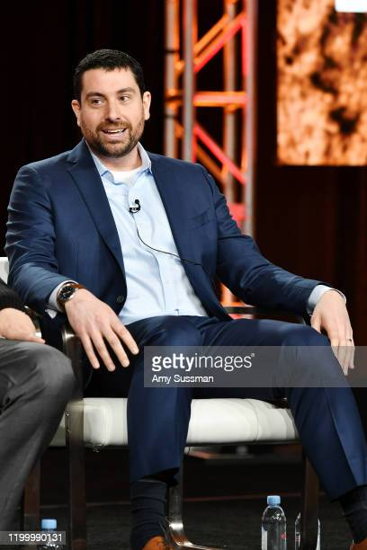 Executive producer Matthew Kelly of Rob Riggle Global Investigation speaks during the Discovery Channel segment of the 2020 Winter TCA Press Tour at...
