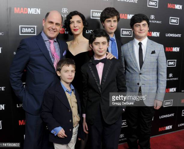 """Executive producer Matthew Weiner and family arrive at AMC's """"Mad Men"""" Season 5 Premiere at ArcLight Cinemas Cinerama Dome on March 14, 2012 in..."""