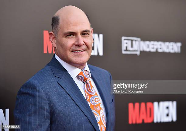 Executive producer Matthew Weiner attends AMC Film Independent and Lionsgate Present 'Mad Men' Live Read at The Theatre at Ace Hotel Downtown LA on...