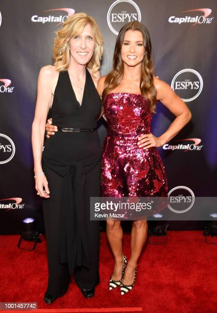 ESPYS executive producer Maura Mandt and Danica Patrick attend The 2018 ESPYS at Microsoft Theater on July 18 2018 in Los Angeles California