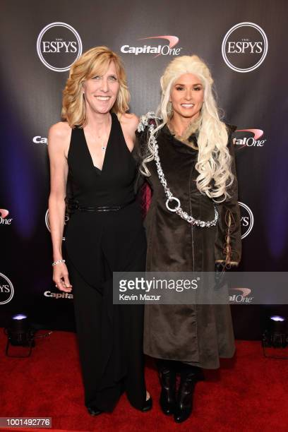 ESPYS executive producer Maura Mandt and host Danica Patrick attend The 2018 ESPYS at Microsoft Theater on July 18 2018 in Los Angeles California