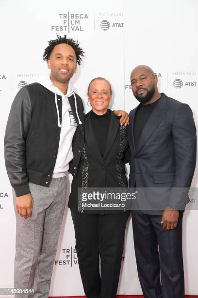 Executive Producer Maverick Carter Lonnie Ali and Executive Producer/Director Antoine Fuqua attend the What's My Name | Muhammad Ali Tribeca Premiere...