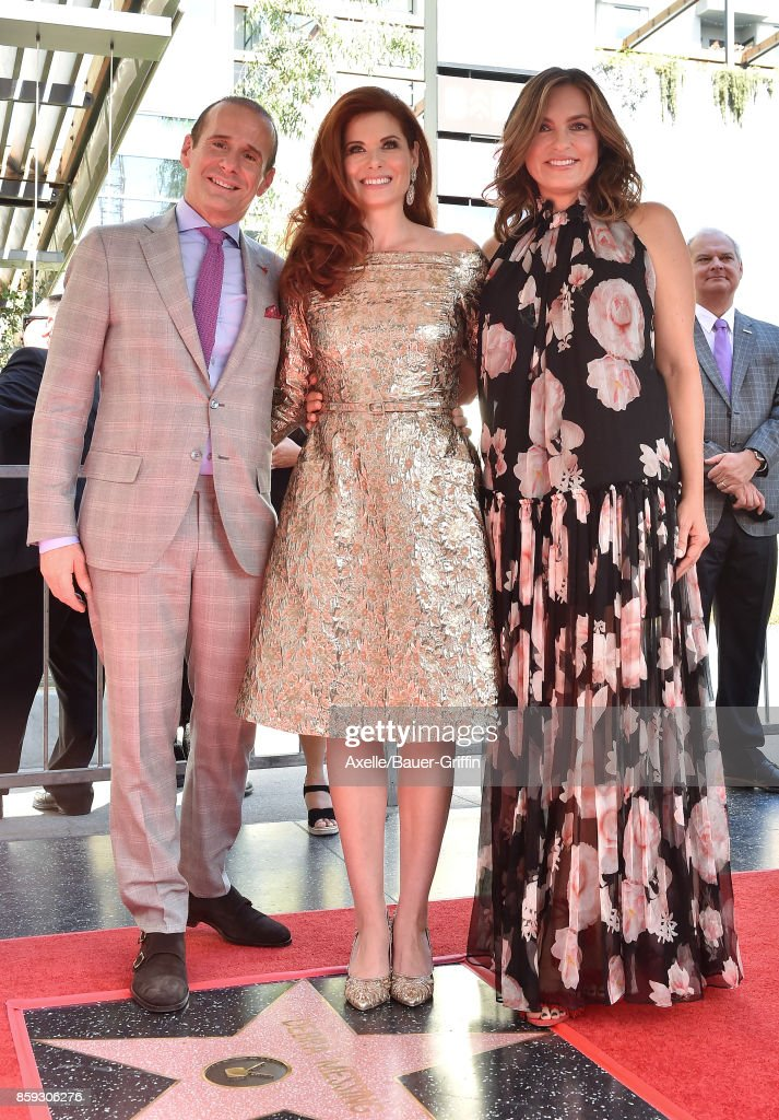 Executive producer Max Mutchnick, actors Debra Messing and Mariska Hargitay attend the ceremony honoring Debra Messing with star on the Hollywood Walk of Fame on October 6, 2017 in Hollywood, California.