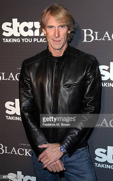 Executive producer Michael Bay attends the Premiere of Starz Original Series 'Black Sails' at the Harmony Gold Preview House and Theater on January 8...