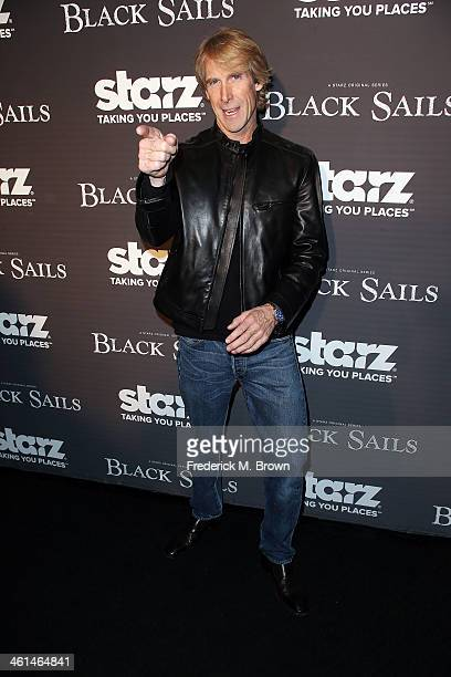 Executive producer Michael Bay attends the Premiere of Starz Original Series Black Sails at the Harmony Gold Preview House and Theater on January 8...