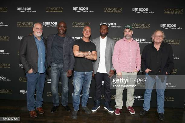 Executive producer Michael Connelly actors Lance Reddick Titus Welliver Jamie Hector executive producers Henrick Bastin and Eric Overmyer attend the...
