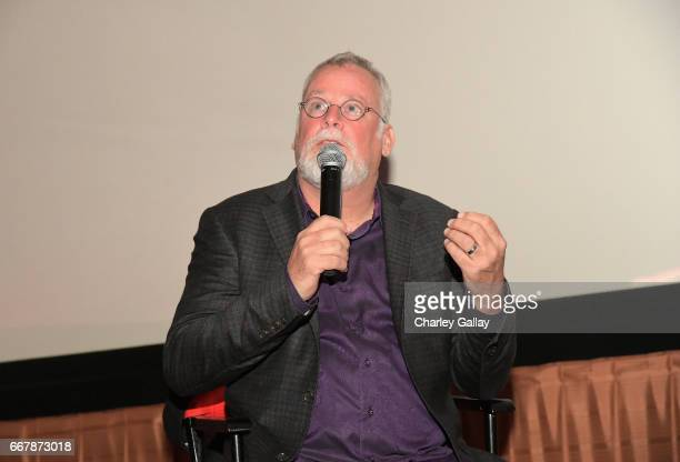 """Executive producer Michael Connelly speaks at the Amazon Original Series """"Bosch"""" special advance screening for local law enforcement at The Grove on..."""