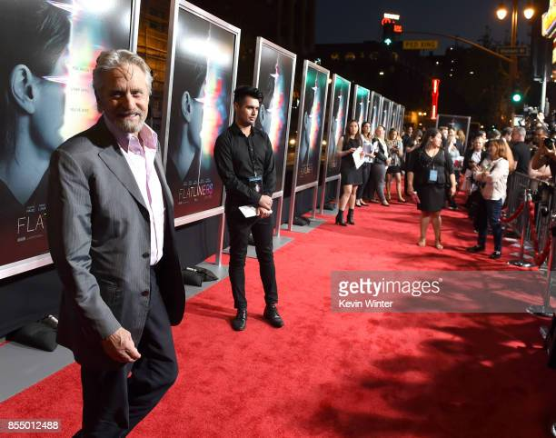 Executive producer Michael Douglas arrives at the premiere of Columbia Pictures' 'Flatliners' at the Ace Theatre on September 27 2017 in Los Angeles...