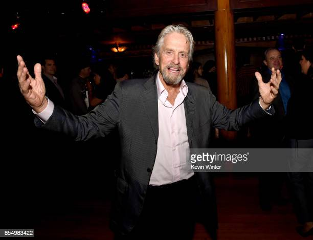 Executive producer Michael Douglas poses at the after party for the premiere of Columbia Pictures' 'Flatliners' at Clifton's Cafeteria on September...