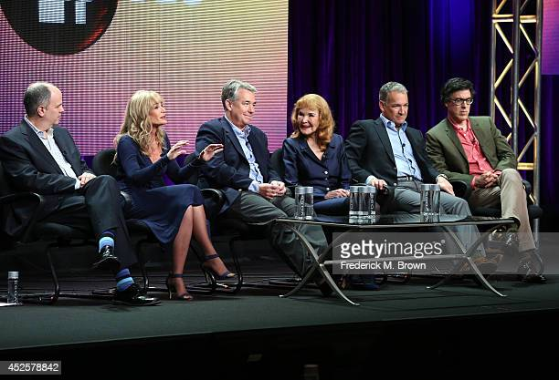 Executive Producer Michael Kantor Mary Crosby Nathaniel Crosby Kathryn Crosby Harry Crosby and filmmaker Robert Trachtenberg speak onstage during the...