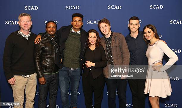Executive producer Michael McDonald and actors Elvis Nolasco Trevor Jackson Lili Taylor Connor Jessup Joey Pollari and Angelique Rivera pose for a...