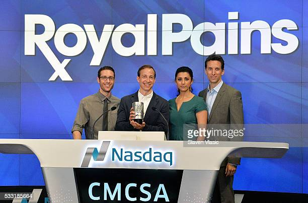 Executive Producer Michael Rauch and cast members Paulo Costanzo Reshma Shetty and Ben Shenkman of USA Network's 'Royal Pains' ring The NASDAQ...