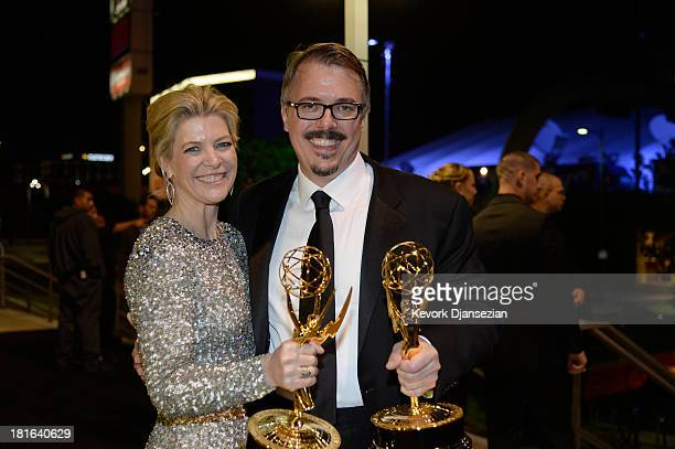 Executive Producer Michelle MacLaren and Producer/ Creator Vince Gilligan attend the Governors Ball during the 65th Annual Primetime Emmy Awards at...