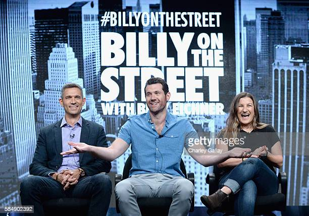 Executive producer Mike Farah Host/executive producer Billy Eichner and Executive producer Anna Wenger speak onstage during the 'Billy on the Street'...