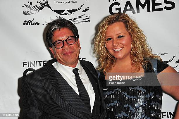 Executive producer Mike Robinson and daughter Halley Robinson attend the Finite Infinite Games A Film Of Music Dance Fashion and Film premiere at...