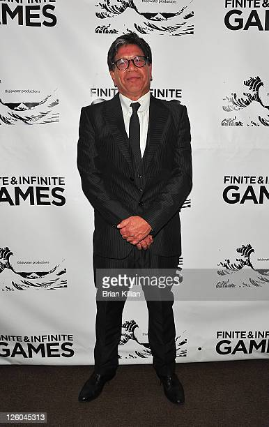 Executive producer Mike Robinson attends the Finite Infinite Games A Film Of Music Dance Fashion and Film premiere at Judson Memorial Church on...