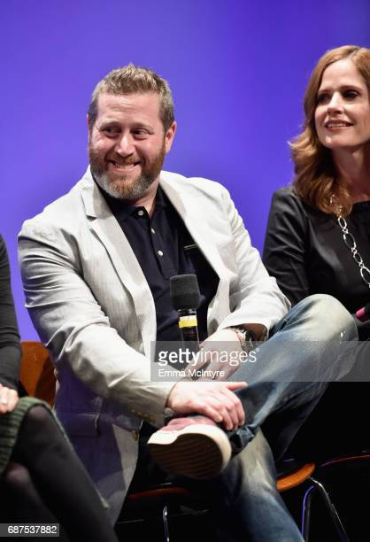 Executive producer Miles Kahn and CoExecutive Producer Alison Camillo speak onstage at the Full Frontal with Samantha Bee FYC Event 2017 LA at the...