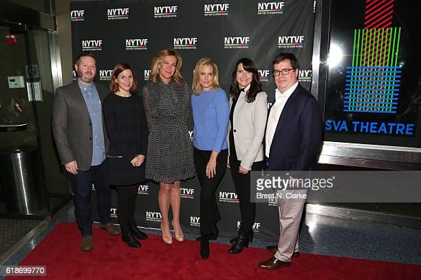 Executive producer Miles Kahn writer Hallie Haglund producer Haleigh Raff actress Ali Wentworth executive producer Deirdre Connolly and NYTVF...