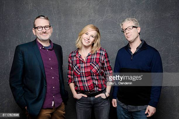 Executive producer Morgan Neville actress/comedian Chelsea Handler and executive producer Eddie Schmidt of 'Chelsea Does' pose for a portrait at the...
