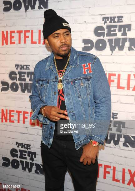 Executive Producer Nas attends 'The Get Down' Part 2 New York Kickoff Party at Irving Plaza on April 5 2017 in New York City