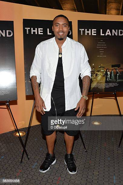 Executive producer Nasir 'Nas' Jones attends 'The Land' New York premiere at SVA Theater on July 26 2016 in New York City