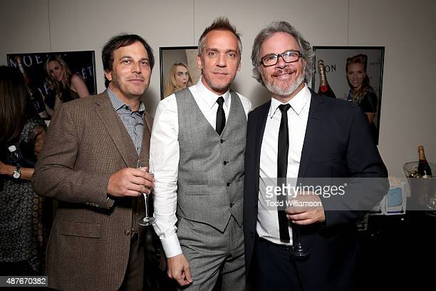 Executive Producer Nathan Ross Director JeanMarc Vallee and Cinematographer Yves Belanger attend the 'Demolition' Fox Searchlight VVS and Sierra...