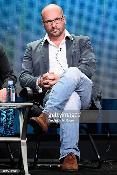 Executive producer Natural History Unit at BBC James Honeyborne speaks onstage during the 'Big Blue Live' panel discussion at the PBS portion of the...
