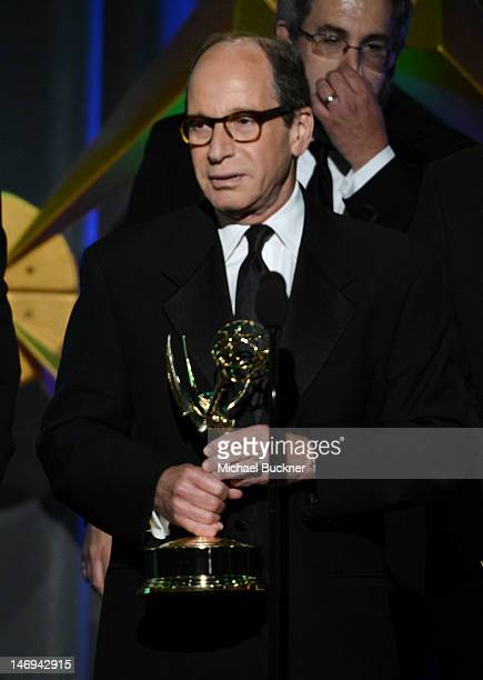 Executive producer of Jeopardy! Harry Friedman accepts the award for Outstanding Game/Audience Participation Show onstage during The 39th Annual...