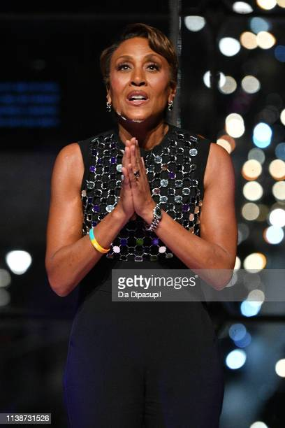 Executive Producer of Lifetime's 'Robin Roberts Presents', Robin Roberts speaks onstage during the 2019 A+E Networks Upfront at Jazz at Lincoln...