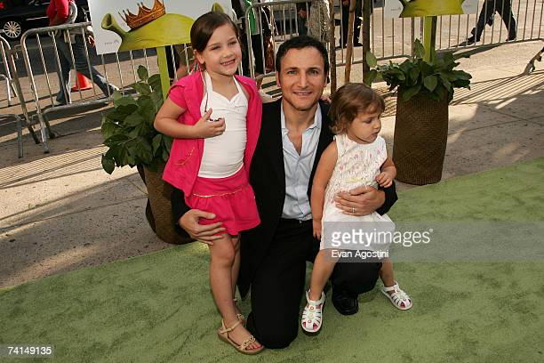 Executive producer of Live with Regis and Kelly Michael Gelman and daughters Jamie Gelman and Misha Gelman attend the premiere of Shrek The Third at...