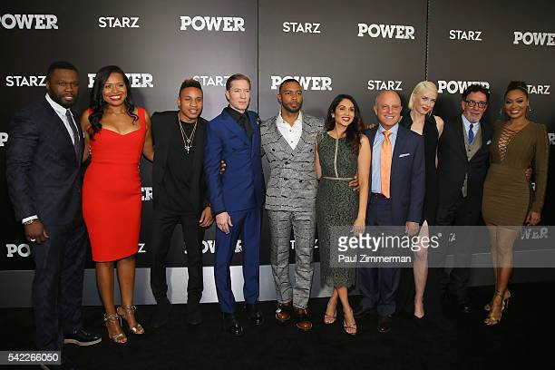 Executive producer of Power Curtis Jackson actors Courtney Kemp Agboh Rotimi Akinosho Joseph Sikora Omari Hardwick Lela Loren CEO of Starz Chris...