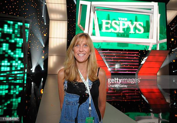 Executive producer of the 2008 ESPY Awards Maura Mandt poses at the Nokia theater on July 15 2008 in Los Angeles California The ESPY Awards will be...