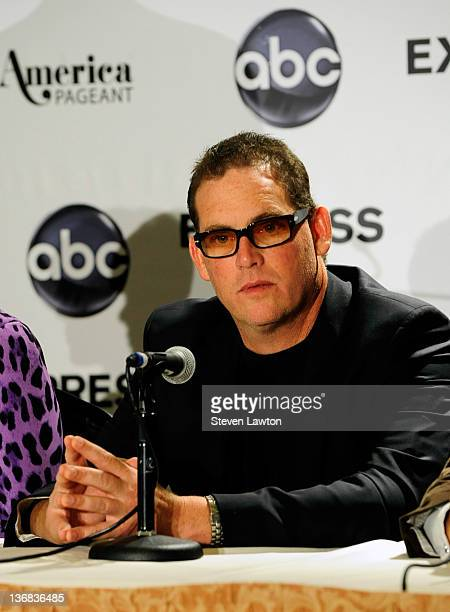 Executive producer of The Bachelor Mike Fleiss listens during National Judges Press Conference for Miss America 2012 at Planet Hollywood Resort and...