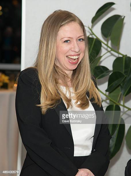 Executive producer of the film Of Many Chelsea Clinton attends the Of Many after party during the 2014 Tribeca Film Festival at High Line on April 17...