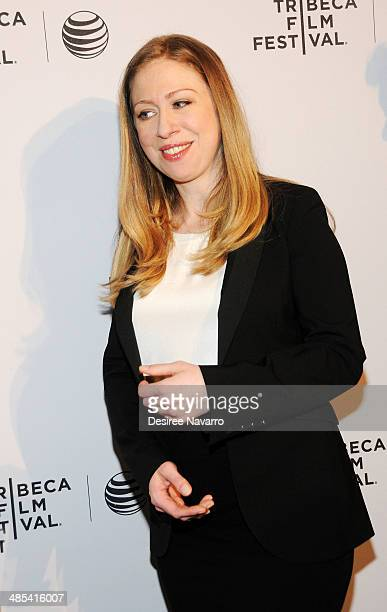 Executive Producer of the film 'Of Many' Chelsea Clinton attends the Shorts Program City Limits during the 2014 Tribeca Film Festival at AMC Loews...