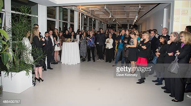 Executive producer of the film 'Of Many' Chelsea Clinton speaks the 'Of Many' after party during the 2014 Tribeca Film Festival at High Line on April...