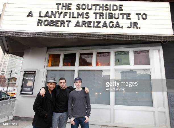 Executive Producer of The Southside Derrell Whitt writer and director of The Southside Gregori J Martin and actor Kristos Andrews attend The...
