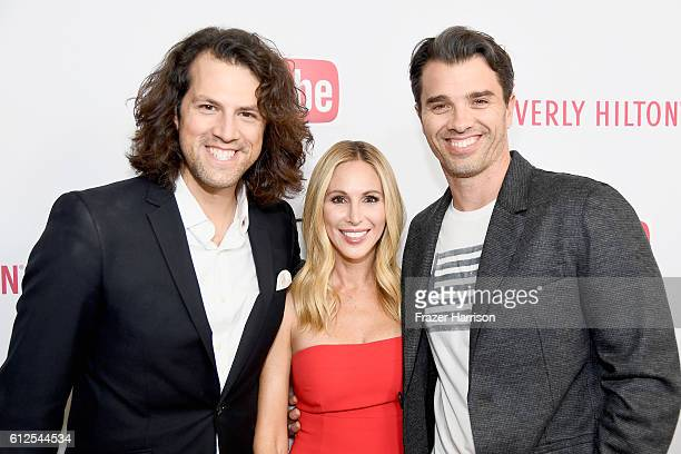 Executive Producer of the Streamy Awards Drew Baldwin Brooke Mahan and president of Dick Clark Productions Mike Mahan attend the 6th annual Streamy...