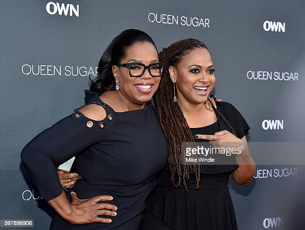 "Executive producer Oprah Winfrey and executive prodcuer/creator Ava DuVernay attend OWN Oprah Winfrey Network's ""Queen Sugar"" premiere at the Warner..."
