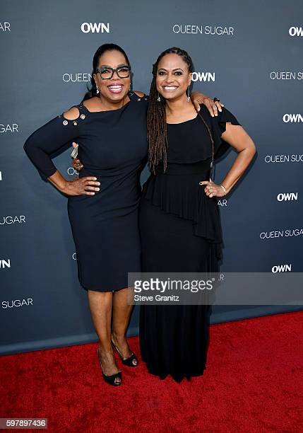 "Executive producer Oprah Winfrey and executive producer/creator Ava DuVernay attend OWN Oprah Winfrey Network's ""Queen Sugar"" premiere at the Warner..."