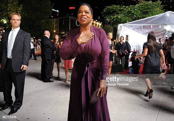 Executive producer Oprah Winfrey attends the Precious Based On The Novel Push By Sapphire premiere at the Roy Thomson Hall during the 2009 Toronto...