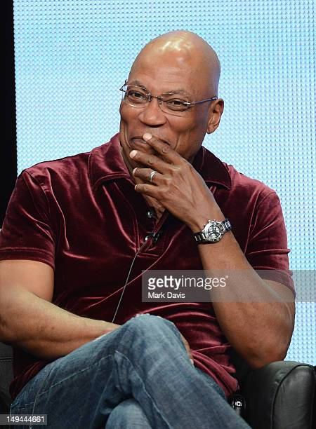 """Executive Producer Paris Barclay speaks onstage at the """"Sons of Anarchy"""" panel during the FX portion of the 2012 Summer TCA Tour on July 28, 2012 in..."""