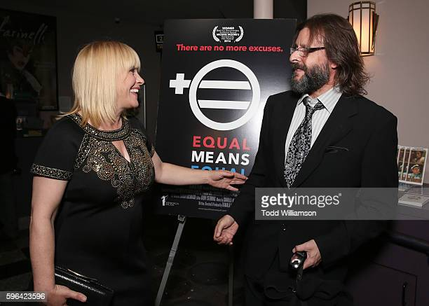 Executive Producer Patricia Arquette and Judd Nelson attend a screening Of Heroica Films' 'Equal Means Equal' at Laemmle's Music Hall 3 on August 26...